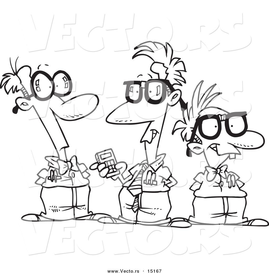 1024x1044 Vector Of A Cartoon Group Of Nerds Talking
