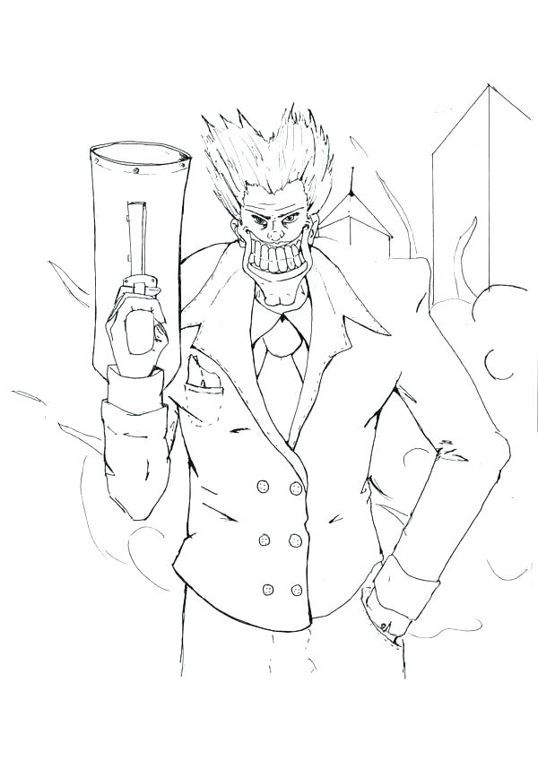 600x848 Nerf Gun Coloring Pages Gun Coloring Pages Joker With Big Smile