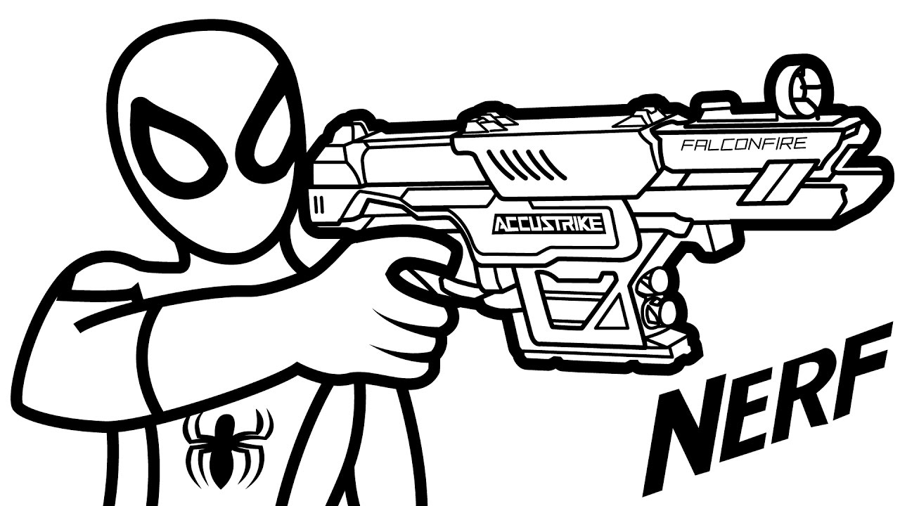 1280x720 Nerf Coloring Pages Of Guns Arilitv Coloring Pages Of Nerf