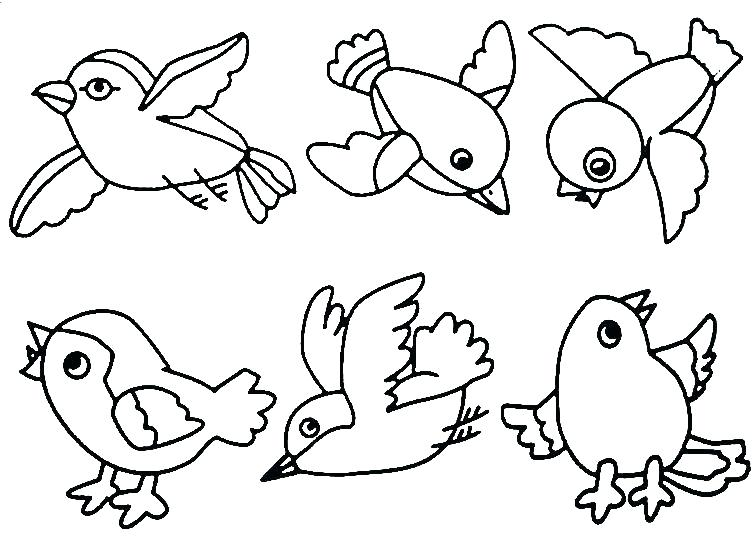 756x538 Simple Bird Coloring Pages Bird Nest Coloring Page Ba Bird Nest
