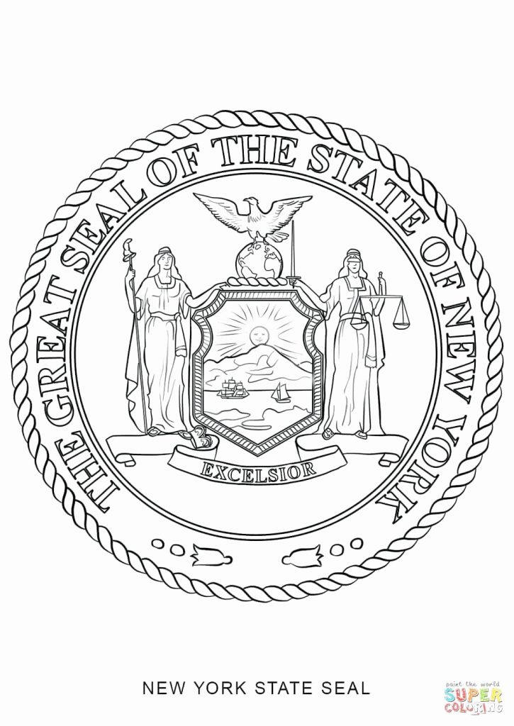 725x1024 New Of Delaware State Seal Coloring Page Image