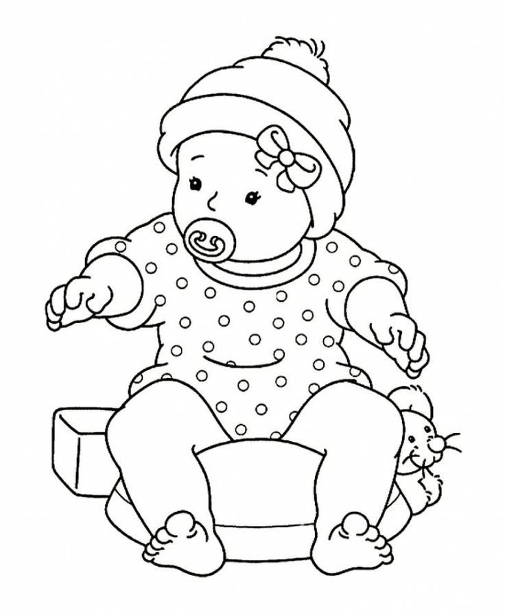 736x895 Baby Doll Coloring Pages Printable