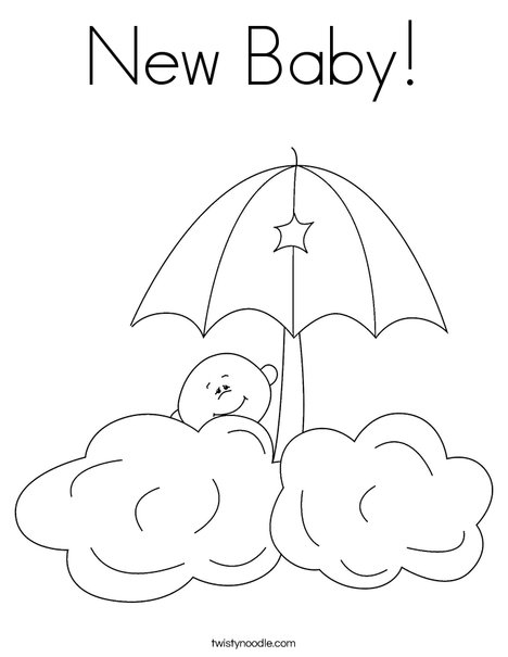 468x605 New Baby Coloring Page