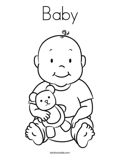 468x605 Baby Coloring Page