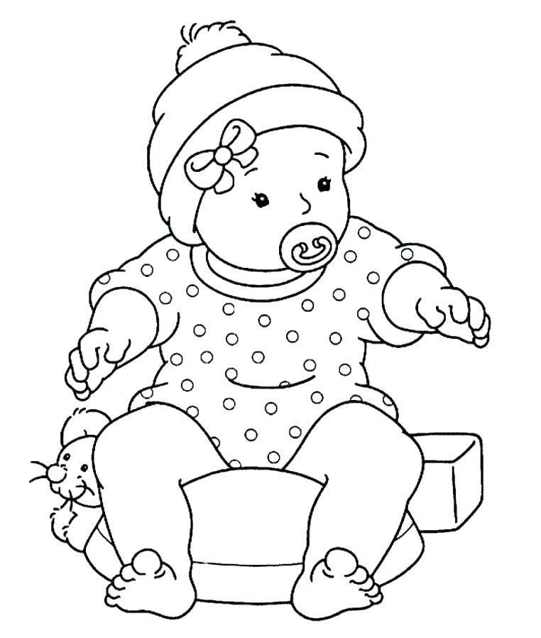 762x898 Baby Coloring Pages Coloring Page Baby Baby Color Pages Glamorous