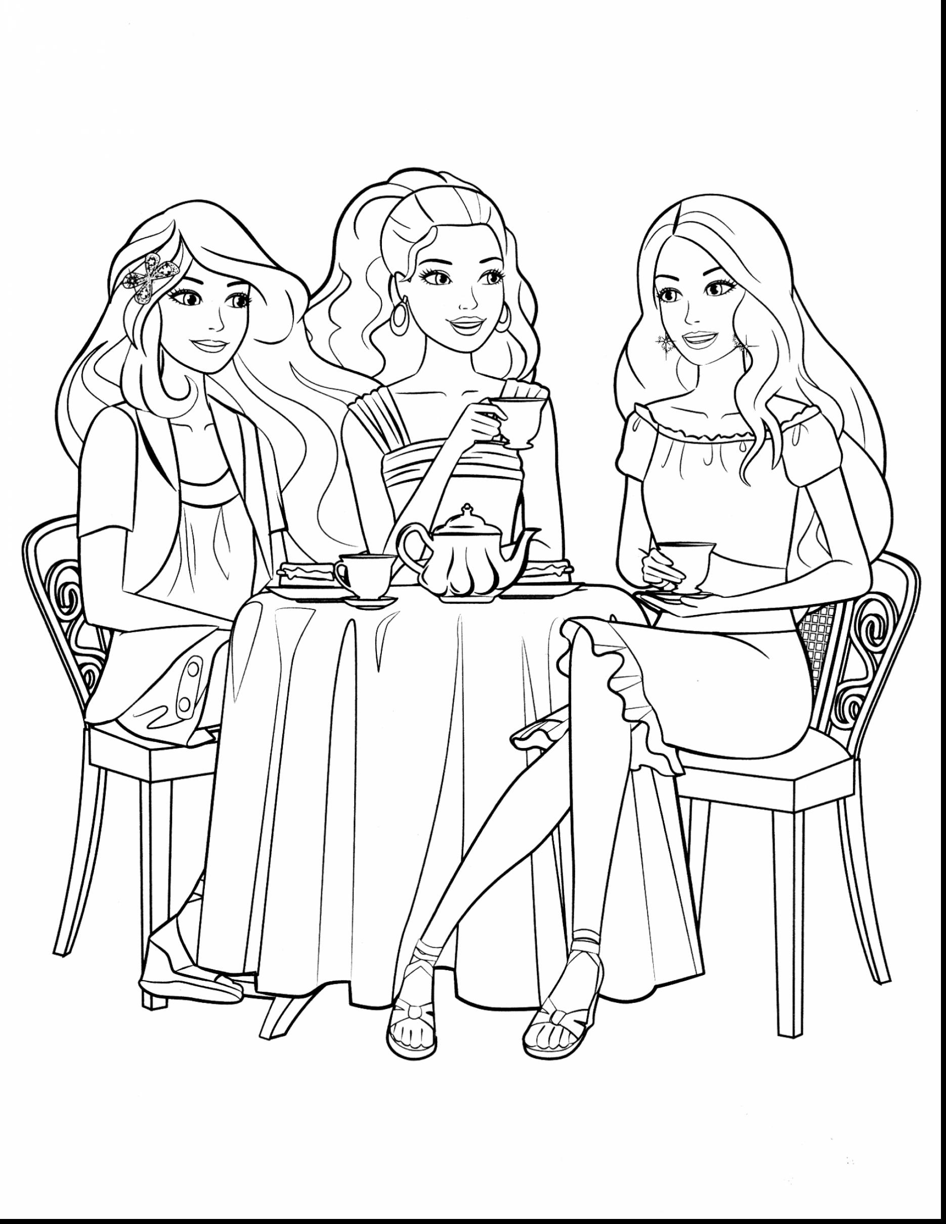 1870x2420 New Coloring Pages Of Barbie And Her Friends