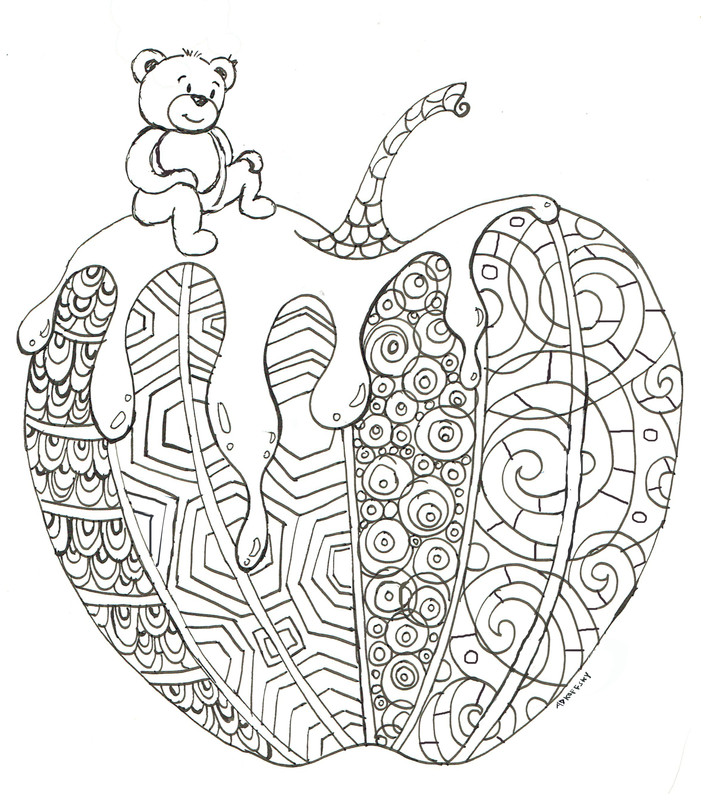 2339x2650 New Coloring Page For The New Year!
