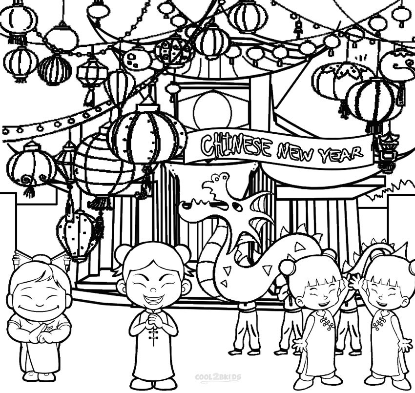 850x805 Printable Chinese New Year Coloring Pages For Kids
