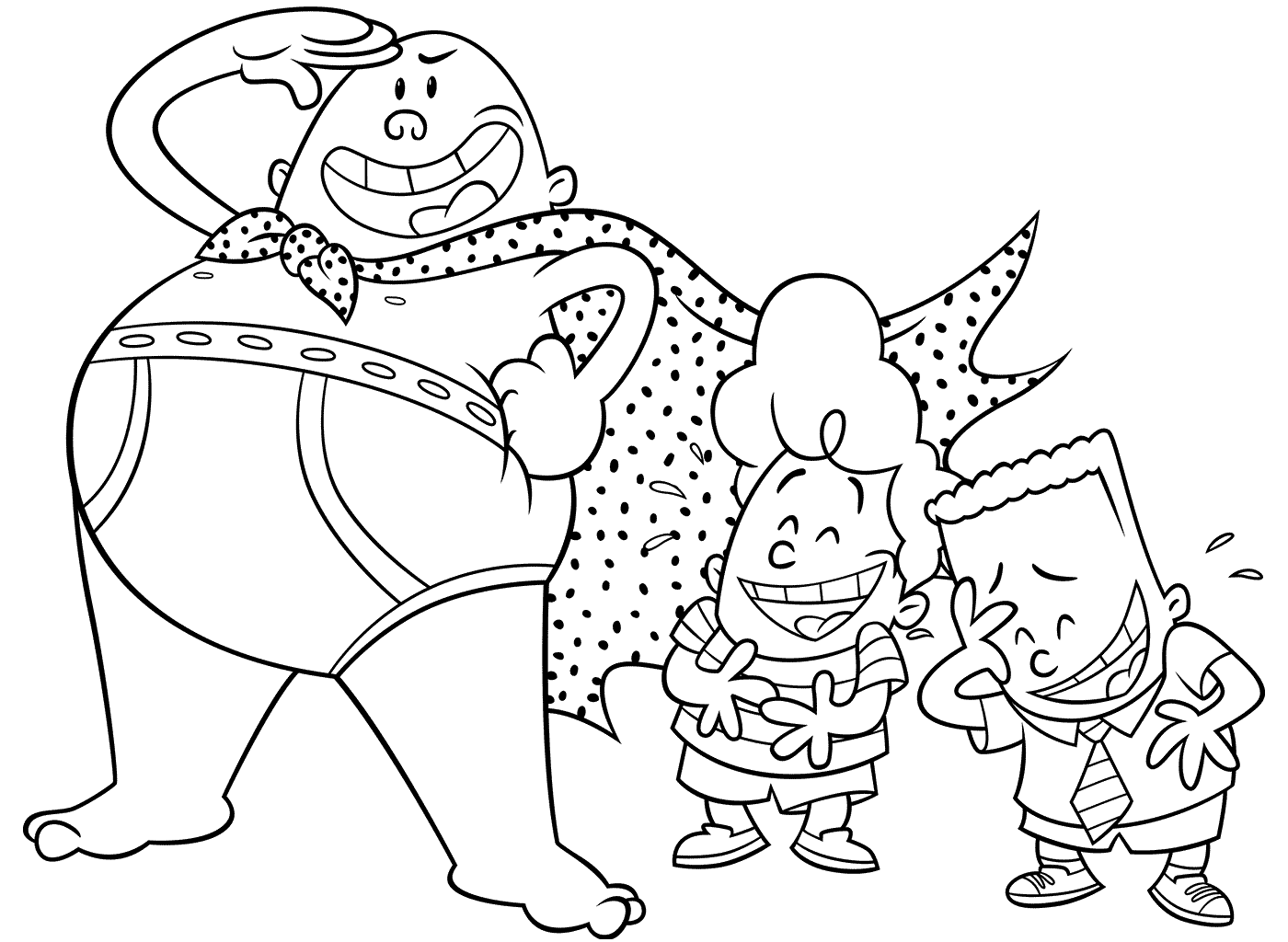 1400x1024 Captain Underpants New Colouring Pages