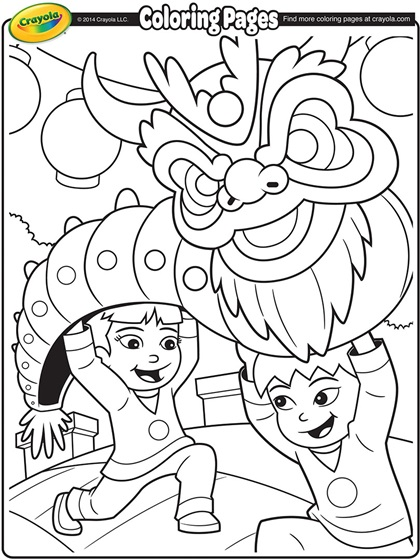 420x560 Chinese New Year Coloring Pages