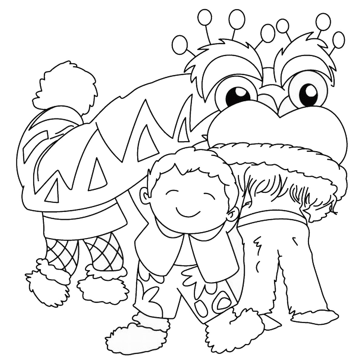 1200x1200 Chinese New Year Coloring Pages