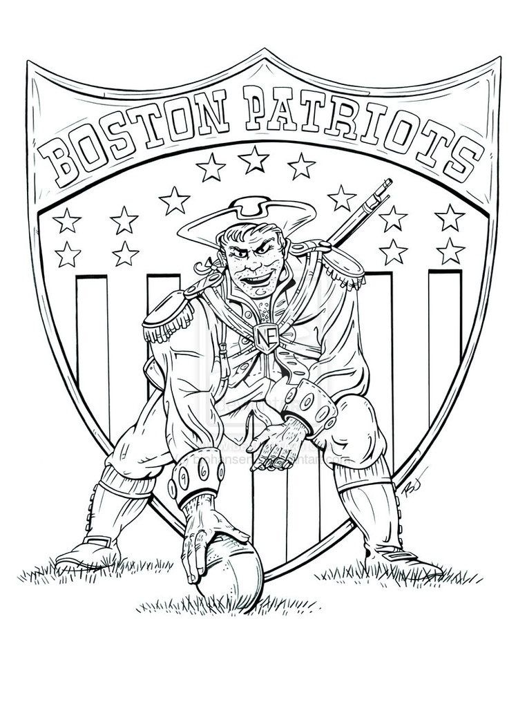 763x1048 New England Patriots Football Coloring Pages
