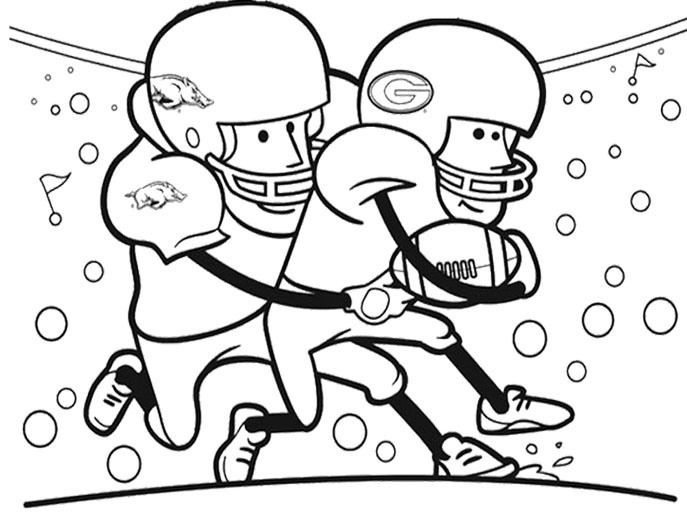 687x517 Beautiful Football Player Coloring Pages