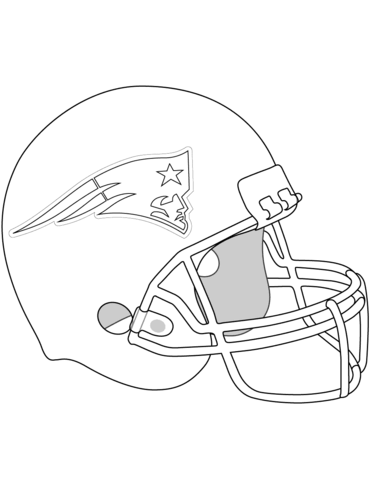 371x480 New England Patriots Helmet Coloring Page From Nfl Category