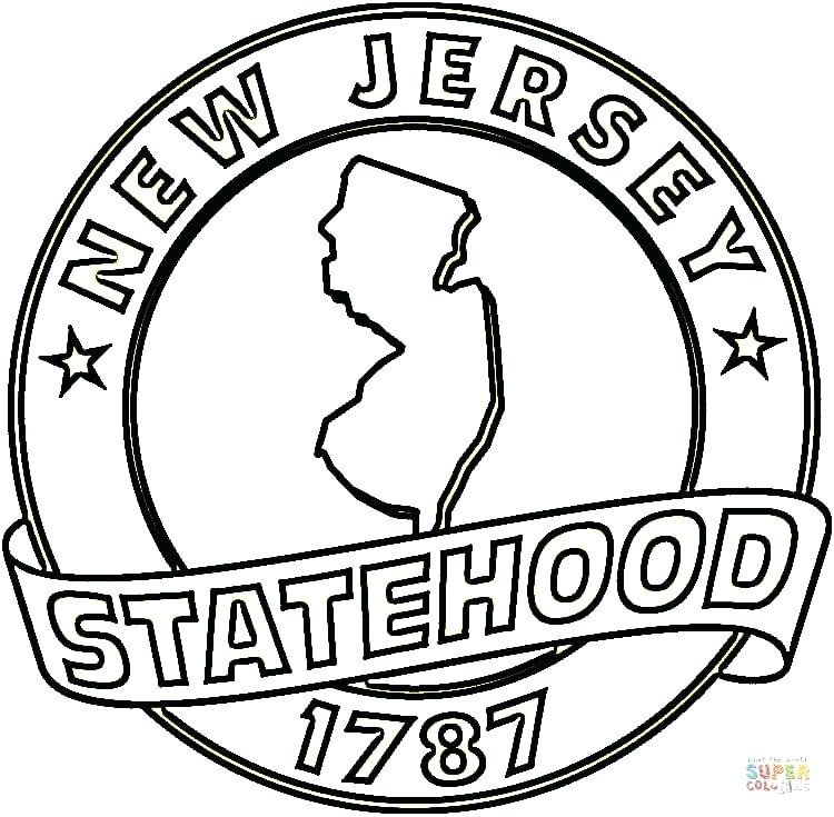 750x735 Coloring Pages Jersey Jersey Coloring Page New Jersey Devils Logo