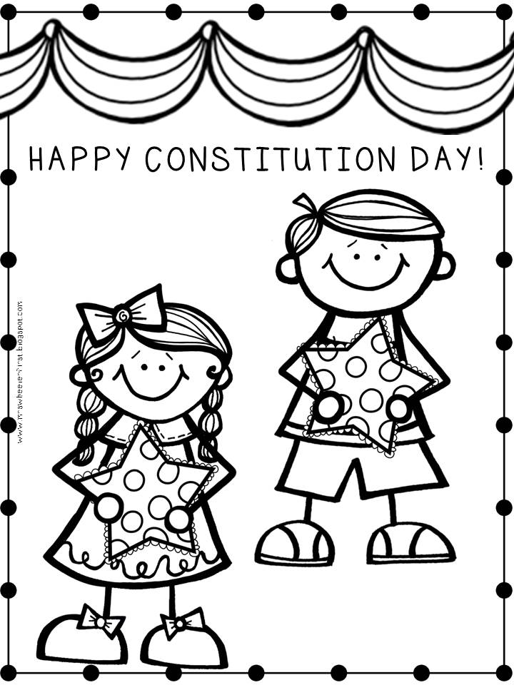 720x960 Constitution Day Coloring Page