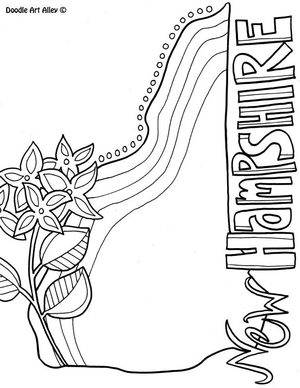 618x799 New Hampshire Coloring Page