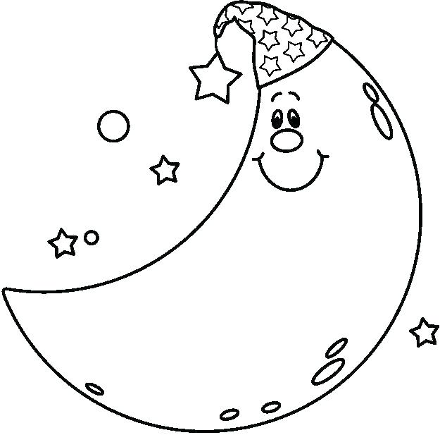 625x617 Crescent Moon Coloring Page Crescent Moon Coloring Page Crescent