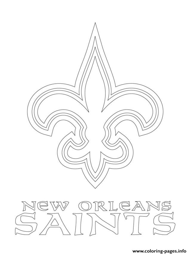New Orleans Saints Coloring Pages At Getdrawings Com Free