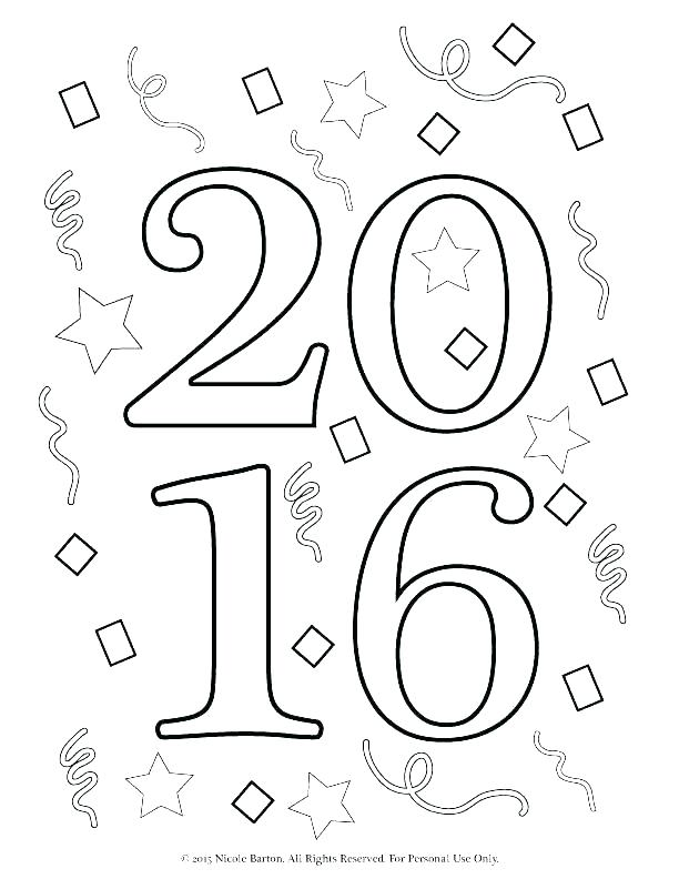 612x792 New Year Coloring Pages Happy New Year Free Leap Year Coloring