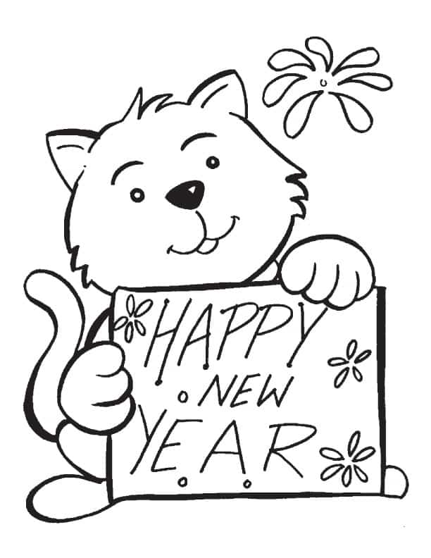 612x792 Happy New Year Coloring Pages Printable