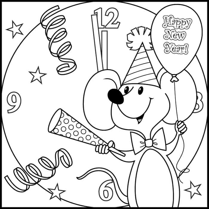 700x700 Happy New Year Greetings, Printable Coloring Pages And Worksheets