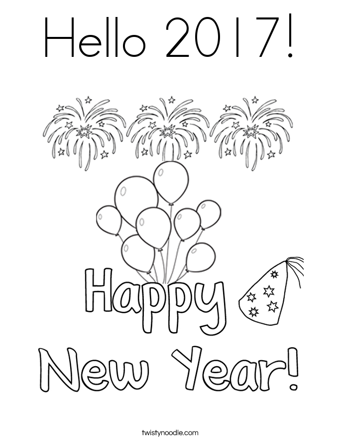 685x886 New Year Coloring Pages Free Celebrations Coloring