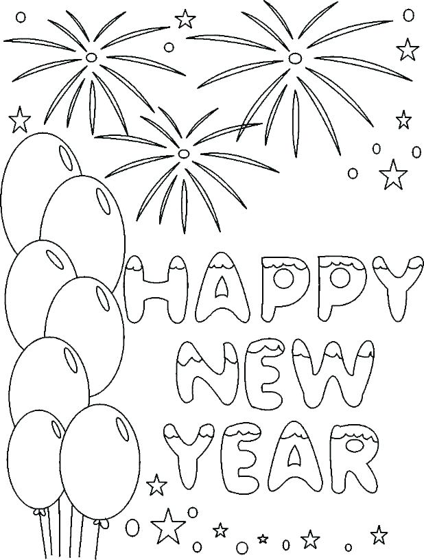 618x816 New Years Coloring Pages New Years Printable Coloring Pages New