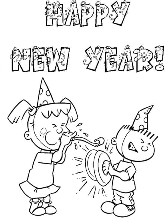 550x727 Happy New Year Coloring Pages Happy Greeting Images