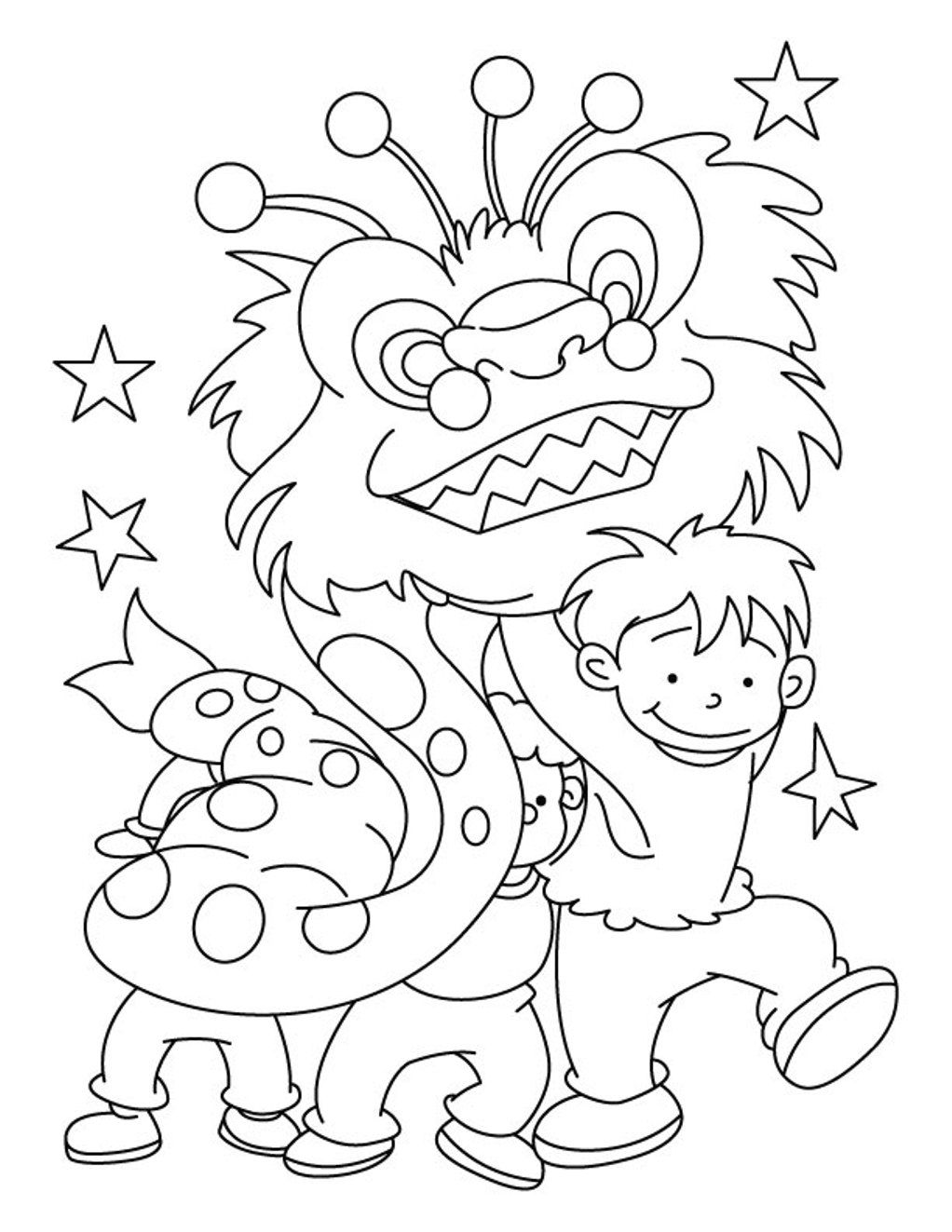 1022x1323 Chinese New Year Coloring Pages Bpsc Conf Org For Your Free