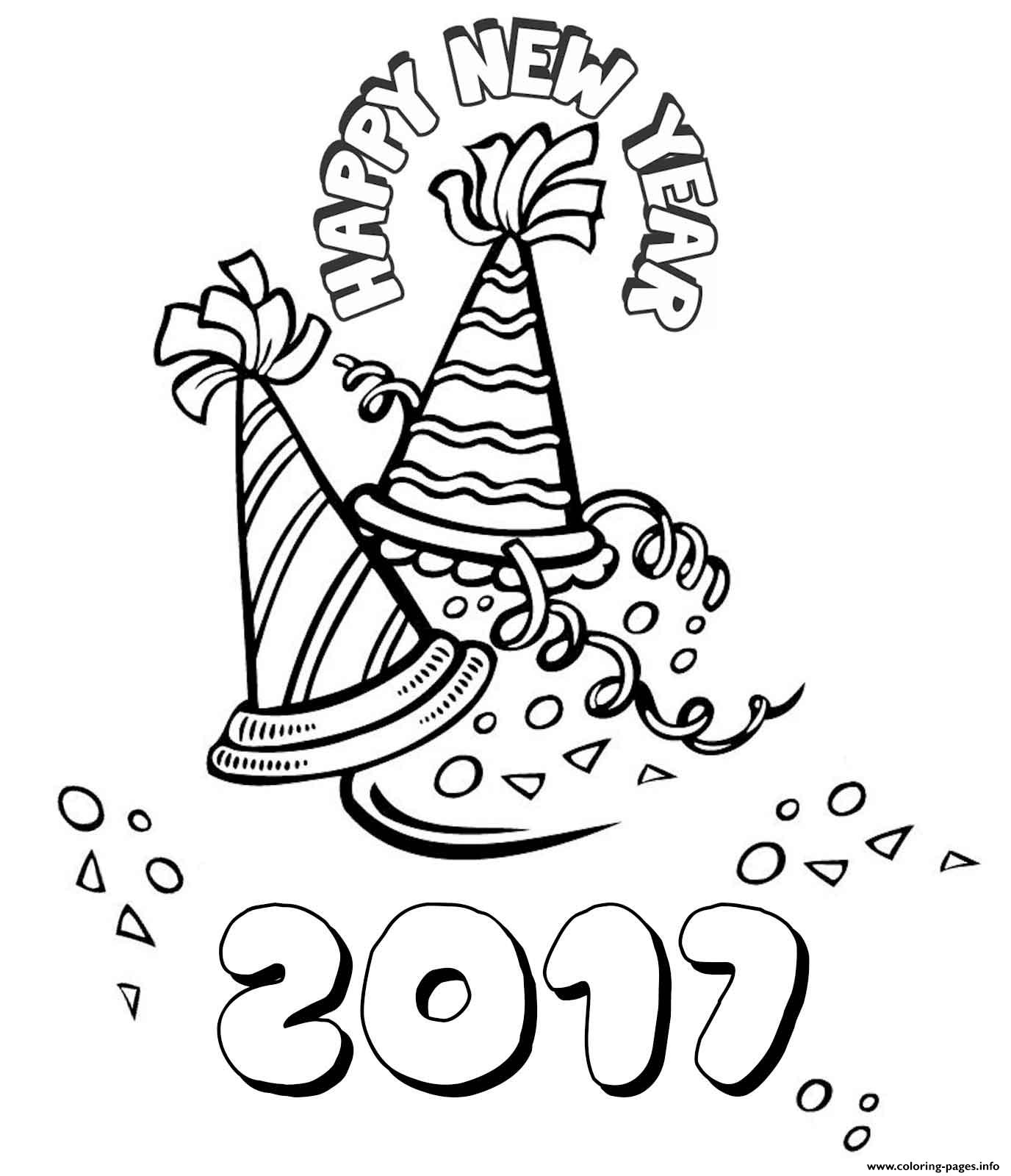 1376x1600 Happy New Year Coloring Pages Printable