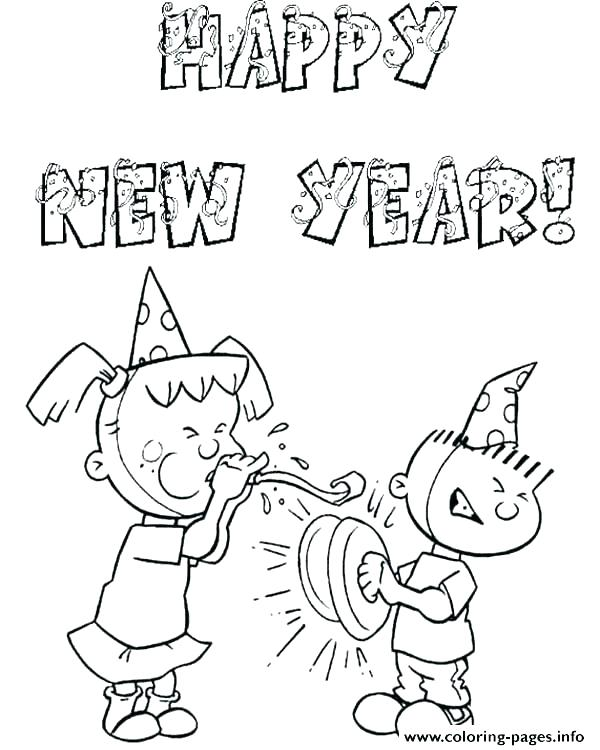 600x750 Happy New Year Coloring Pages Happy New Year Coloring Pages