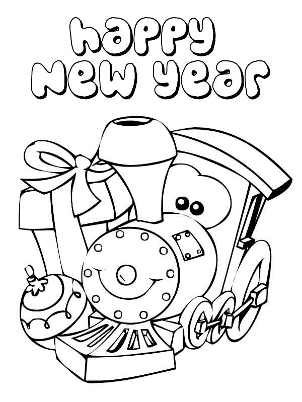 600x799 Happy New Year Coloring Pages To Download And Print For Free