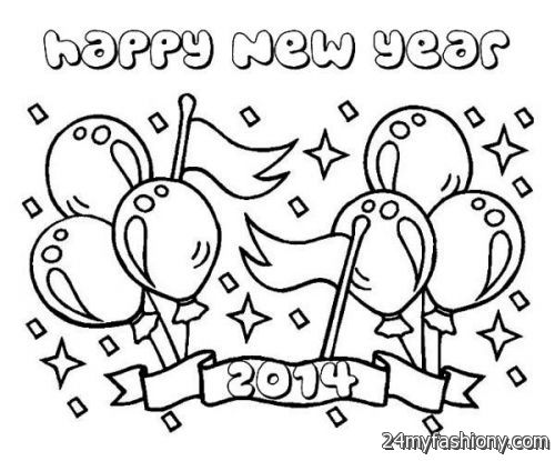 500x415 Happy New Year Coloring Pages For Kids Images Fashion