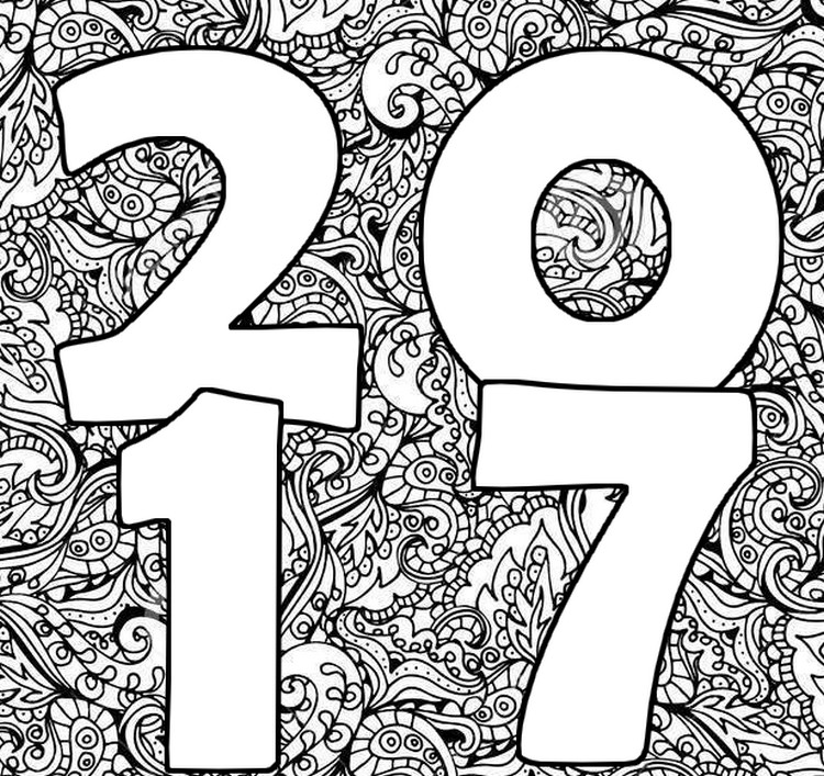 750x707 Adult Coloring Pages New Year