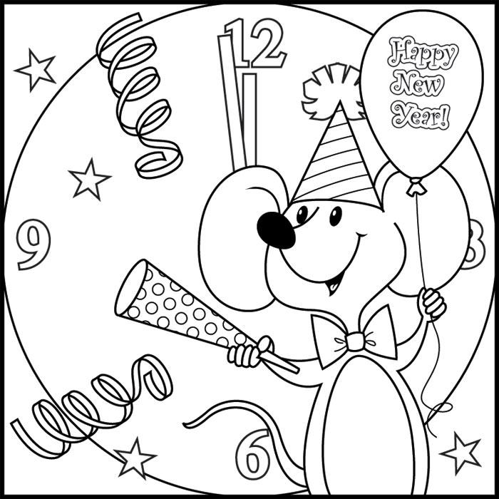 700x700 New Years Eve Coloring Pages Printable Best Happy New Year