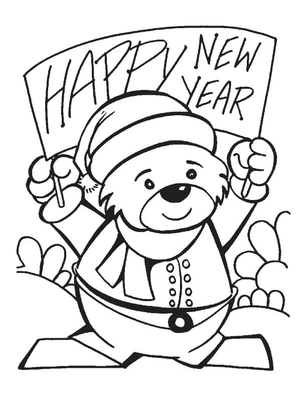 612x792 Happy New Year Coloring Pages To Print Professional