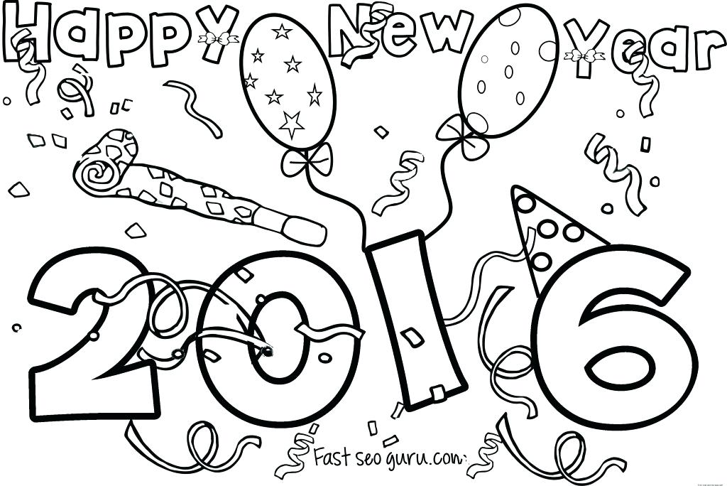 1024x684 Happy New Year Hat Coloring Pages Icontent