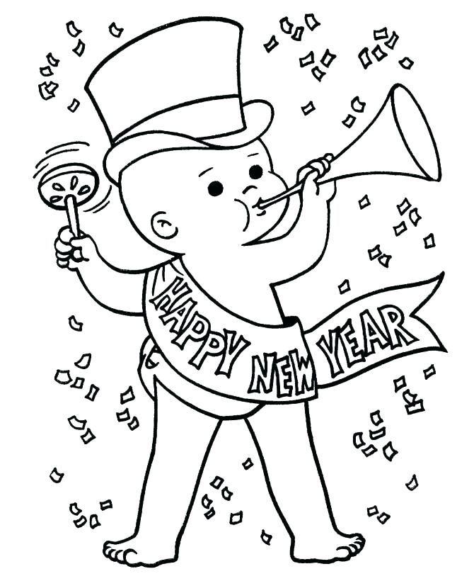 670x820 Chinese New Year Coloring Page New Year Gifts Colouring Page