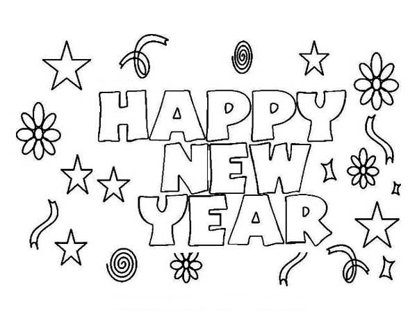 600x462 Happy New Years Coloring Pages