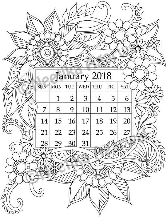 570x738 January Coloring Page