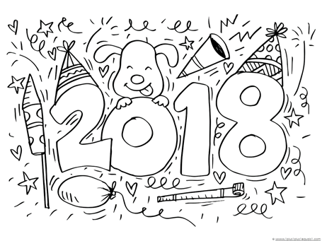 455x341 New Year Coloring