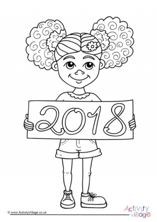 320x453 New Year Colouring Pages