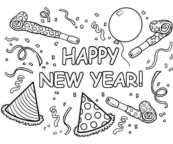 550x458 New Years Coloring Pages Elegant Printable Winter Coloring