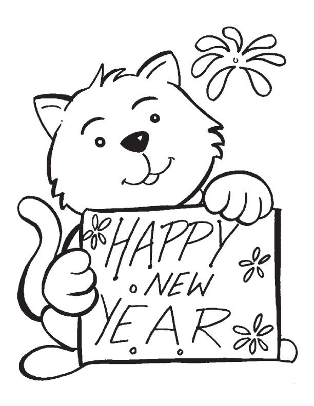 612x792 Printable Coloring Sheets For New Year
