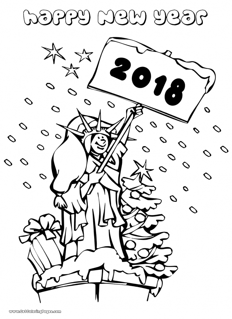 746x1024 Printable New Year Coloring Pages