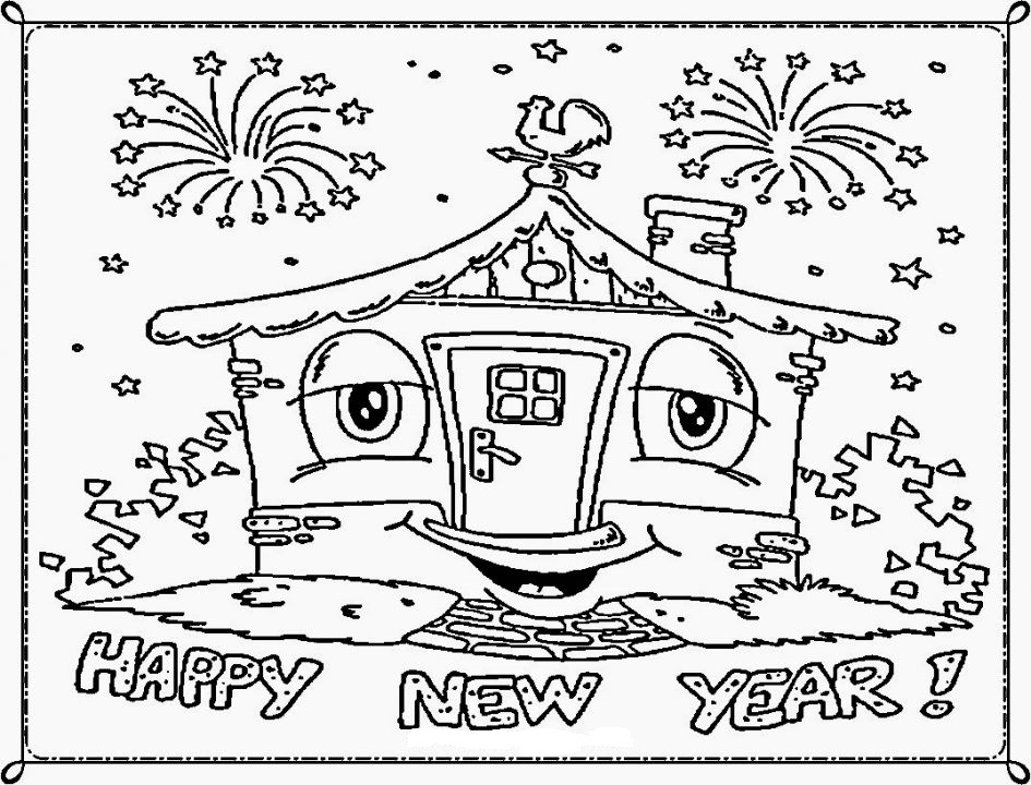 945x720 Cute Coloring Sheets For New Year