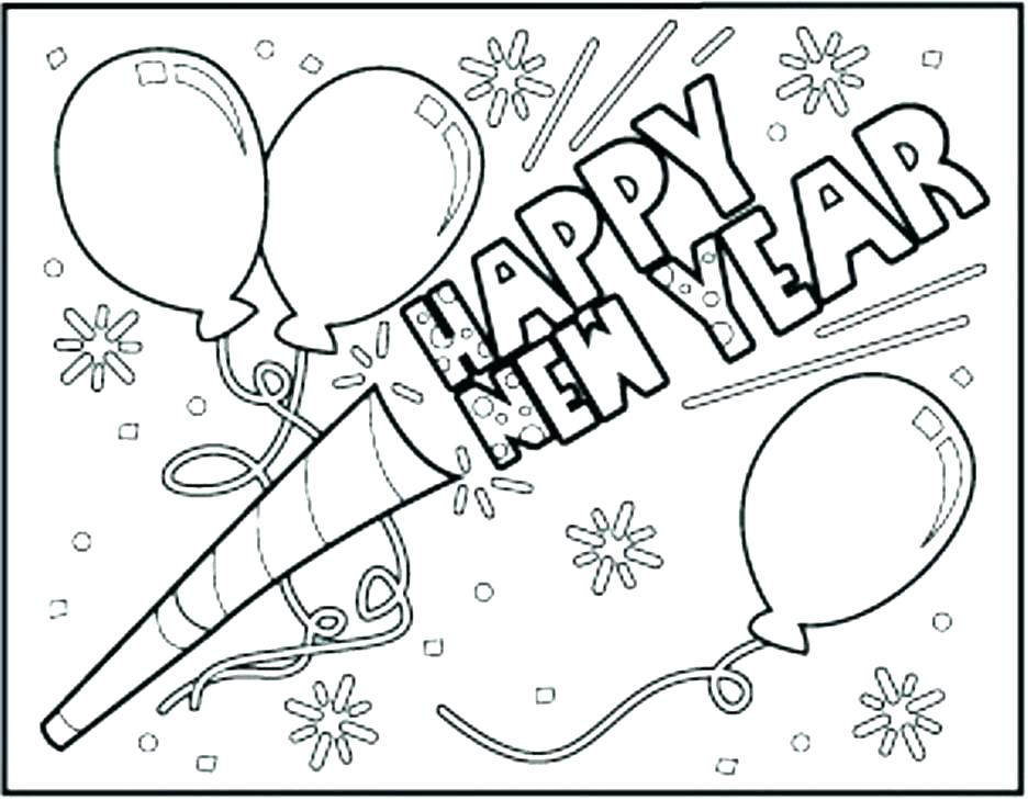 936x729 Happy New Year Coloring Pages New Year Coloring Pages Happy New