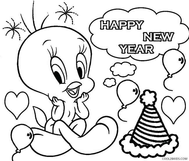 650x553 Happy New Year Coloring Pages New Years Coloring Pages Printable