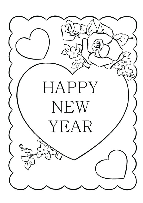 595x842 Happy New Years Coloring Pages Happy New Year Advertisement Happy
